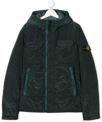 Stone Island Junior TEEN hooded shell jacket