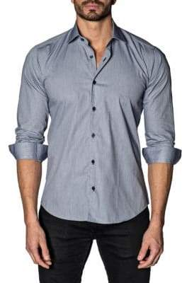 Jared Lang Classic Trim-Fit Button-Down Shirt