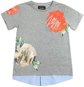 Fred Mello Printed Cotton Jersey T-Shirt
