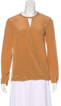 Magaschoni Long Sleeve Silk Top