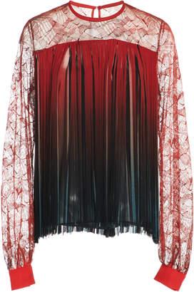 Elie Saab Top With Lace Sleeves