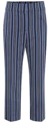 Burberry Striped wool-blend pants