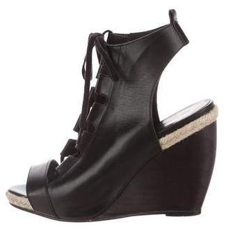 Pierre Hardy Lace-Up Wedge Sandals