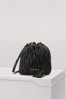 Miu Miu Small quilted bucket bag