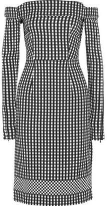 Preen by Thornton Bregazzi Olivia Off-The-Shoulder Gingham Crepe Dress
