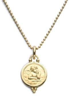 Temple St. Clair Angel 18K Yellow Gold Medium Pendant