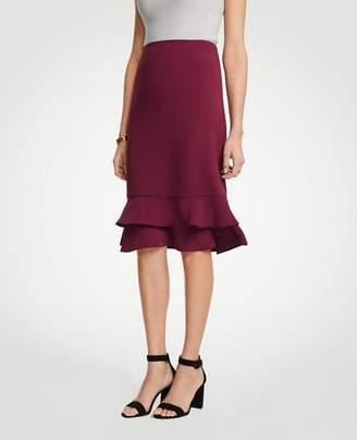 Ann Taylor Petite Ruffle Pencil Skirt