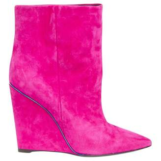 Emilio Pucci Pink Suede Ankle boots