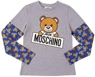Moschino Teddy Bear Printed Cotton Jersey T-Shirt