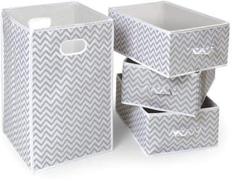 Badger Basket Folding Laundry Hamper and Basket Set