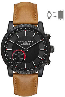 Michael Kors Scout IP and Leather Strap Hybrid Smartwatch