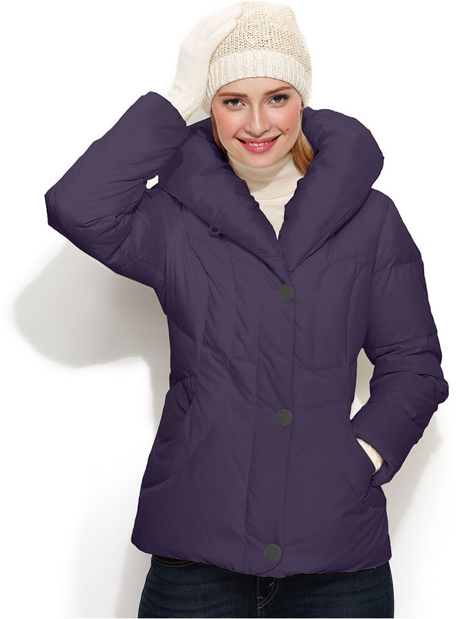 Larry Levine Pillow-Collar Quilted Puffer