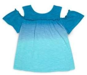 Design History Little Girl's & Girl's Cold-Shoulder Top
