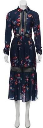 Self-Portrait Silk Blend Dress