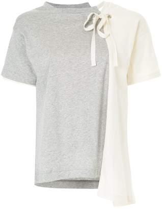 Miharayasuhiro combined panel T-shirt
