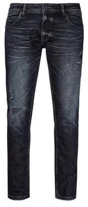 Burton Mens DML Blue and Black Wash Blake Slim Fit Jeans*