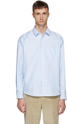 Ami Alexandre Mattiussi Blue and White Striped Shirt
