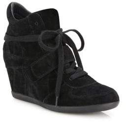 Ash Bowie Suede High-Top Wedge Sneakers