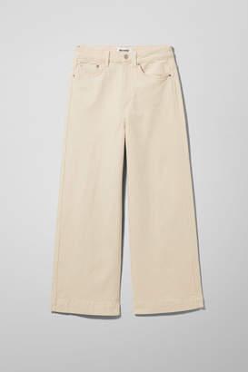 Weekday Veer Ecru Jeans - Beige