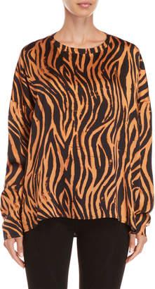 Faith Connexion Silk Tiger Stripe Top
