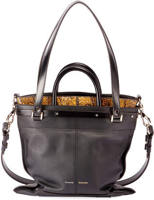 Proenza Schouler PS19 Small Leather and Snakeskin Crossbody Bag