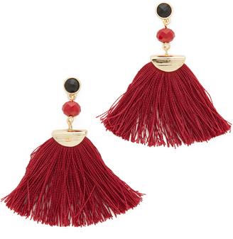 Shashi Mia Fan Tassel Earrings $42 thestylecure.com
