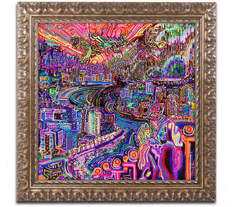 """Josh Byer 'Hobo' Ornate Framed Art - 11"""" x 11"""""""