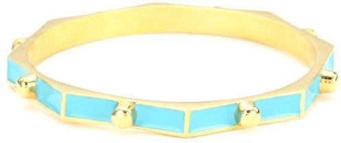 Ettika 8-sided Nugget Spikes Turquoise-Color Bangle Bracelet