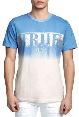 True Religion Men's Metallic Logo Dip-Dyed T-Shirt