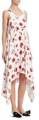 Proenza Schouler (プロエンザ スクーラー) - Proenza Schouler Proenza Schouler Women's Handkerchief Hem Dress - Creme Coral Poppy - Size 4