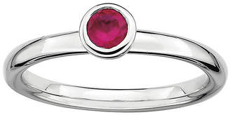 JCPenney FINE JEWELRY Personally Stackable 4mm Round Lab-Created Ruby Ring