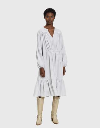 Need Maisle Striped Midi Casing Dress