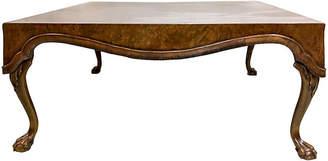 One Kings Lane Vintage Burl Walnut Square Italian Coffee Table