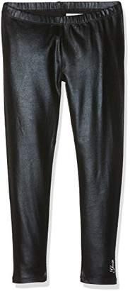 GUESS Girls' Leggins Leggings, (Jet Black), (Size: 5)
