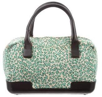 Bottega Veneta Leopard Print Handle Bag