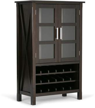 Simpli Home Kitchener Wine Rack Storage Cabinet