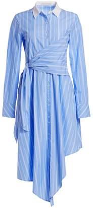 Jonathan Simkhai Asymmetric Oxford Wrap Dress