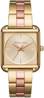 Michael Kors Women's Lake Two-Tone Stainless Steel Bracelet Watch 32x32mm MK3665 $225 thestylecure.com