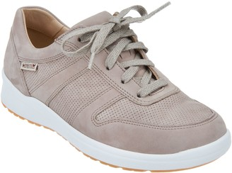 Mephisto Perforated Nubuck Lace-Up Sneakers - Rebeca Perf