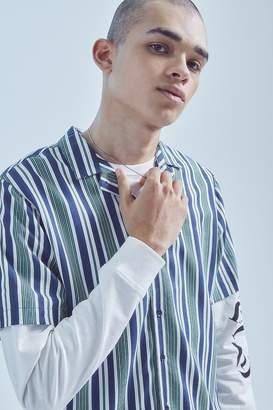 NATIVE YOUTH Bay Stripe Short Sleeve Button-Down Shirt