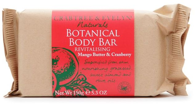 Crabtree & Evelyn Naturals Botanical Body Bar, Mango Butter & Cranberry 5.3 oz  selected scent: Mango Butter & Cranberry Mango Butter & Cranberry Cocoa Butter, Nutmeg & Cardamom Everyday Free Shipping Auto Delivery Eligible Email A Friend Write a review
