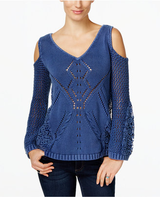 INC International Concepts Cold-Shoulder Sweater, Only at Macy's $89.50 thestylecure.com