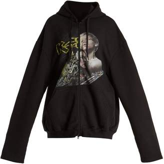 Vetements Metalhead faces-print zip-through sweatshirt