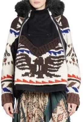 Sacai Wool Sweater-Coat