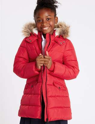 Marks and Spencer Long Padded Coat with Stormwear (3-16 Years)