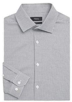 Theory Privilege Houndstooth Dress Shirt