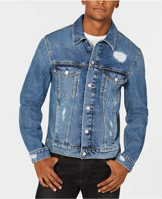 Calvin Klein Jeans Men's Modern Destroyed Denim Trucker Jacket