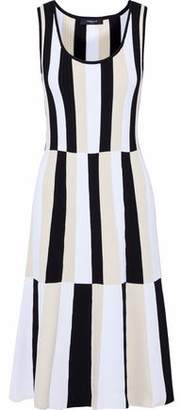 Derek Lam Paneled Striped Stretch-Knit Dress
