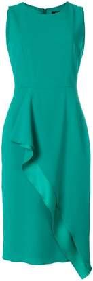 Paule Ka sleeveless wrap front dress