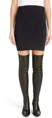 Givenchy Seamed Punto Milano Miniskirt